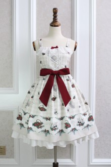 Alice Girl Strawberry Rabbit Bowknot Sweet Lolita JSK Dress