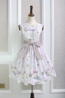 Alice Girl Poker Bowknot Sweet Lolita JSK Dress 2 Colors
