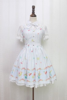 Alice Girl Summer Ice Cream Sweet Lolita Suspender JSK Dress