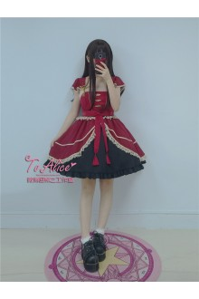 To Alice Original Military Orders of General Yin Yang Vintage Chiffon Sweet Lolita Dress