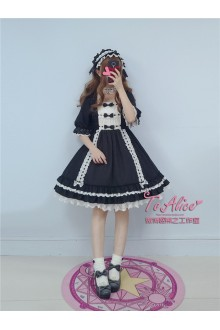 To Alice Original Vintage Elegant Flouncing Chiffon Sweet Lolita Dress 3 Colors