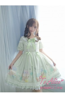 To Alice Original Honey and Clover Vintage Country Style Chiffon Sweet Lolita Dress