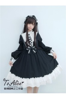 To Alice Original St Mary Monastery Peaked Lapel Vintage Chiffon Classic Lolita Dress