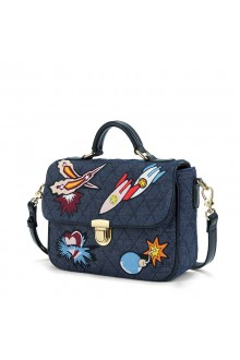 Fashion Blue Star Wars PU Lolita Shoulder Messenger Bag Handbag