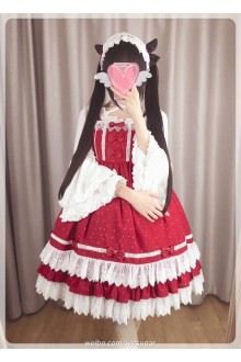 Lucky Star Original Naughty Missy Hot Stamping Chiffon Sweet Lolita JSK Dress