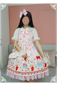 Lucky Star Original Ball Vicunas Sweet Lolita JSK Dress 3 Colors