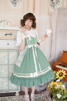 Lucky Star Original Pastoral Poetry Elegant Lace Bowknot Classic Lolita JSK Dress