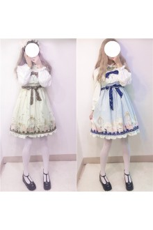 Sweet Girl High Waist Sleeveless Lolita JSK Dress 3 Colors