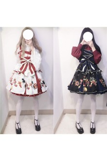 Sweet Daydream Bowknot Goldfish Printing Lolita Suspender JSK Dress 4 Colors
