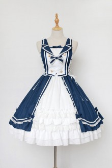 Neverland Heart of Ocean front Cardigan Elegant Sweet Lolita JSK Dress