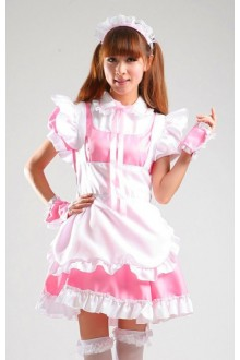GLP Barbie Dolls Princess High Waist Chiffon Cosplay Lolita Maid Dresses