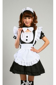GLP Rose Girl Antumn Leaves High Waist Chiffon Cosplay Lolita Maid Dresses
