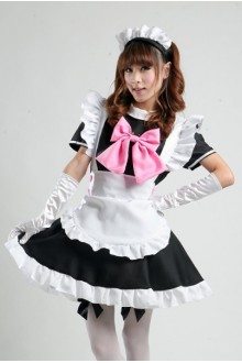 GLP Classic Black and White Cafe Waitress Cosplay Lolita Maid Dresses