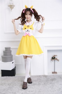GLP Cute Cat Bowknot Chiffon Sweet Lolita Jumper Dresses 3 Colors