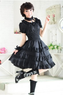 GLP Princess Dress Short Sleeves Chiffon Flouncing Sweet Lolita Dress