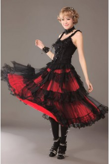 GLP Luxuriant Tiered Split Joint Lace Gothic Lolita long SK Dress