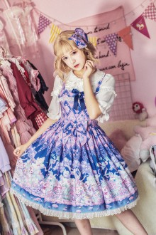 Milu Forest Easter Bunny Printing Sweet Lolita JSK Dress 3 Colors