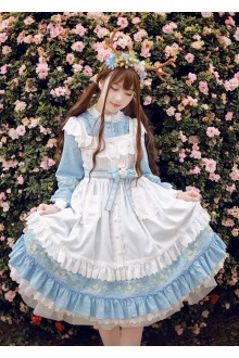 Milu Forest Spring Cherry Sweet Lolita OP Dress 3 Colors