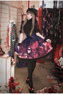 Milu Forest Hundred Ghosts Night Walking Gothic Lolita SK 3 Colors