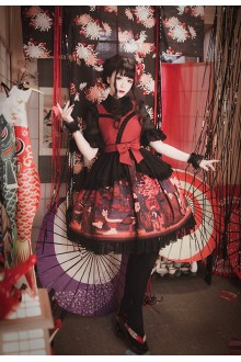 Milu Forest Hundred Ghosts Night Walking Gothic Lolita JSK 3 Colors