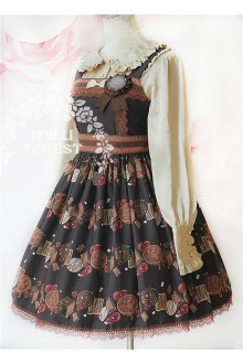 Milu Forest Berry Chocolate Cookies Sweet Lolita JSK Dress