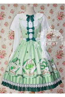 Milu Forest Matcha Dessert Sweet Lolita JSK Dress