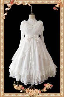 Infanta Obsidian Lace Hanayome Sweet Lolita JSK Dress 2 Colors