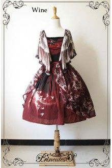 Fairydream Lolita Whale Fall With Flying Sleeves Sweet Lolita OP Dress 3 Colors