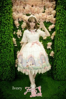 Fairydream Lolita Fairy Poem Sweet Lolita OP Dress 3 Colors