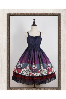 Ista Mori Night Elf Crown Gothic Lolita JSK Dress