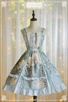Doris Night Prologue of July Flower Wall Classic Lolita JSK Dress
