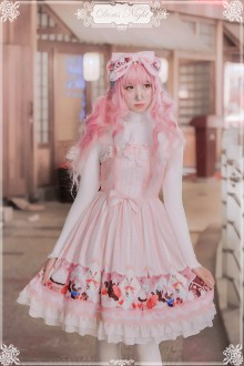 Doris Night Original Printing Candy House Sweet Lolita JSK Dress 5 Colors