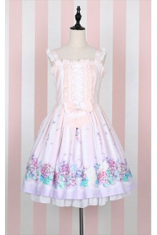 Sweet Princess High Waist Sleeveless Flouncing Strap Lolita JSK Dress