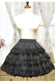 Organza Hollow Flouncing Lolita Petticoat