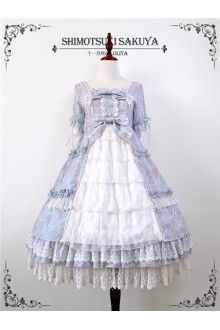 Shimotsuki Sakuya Flower Demon Dream Chiffon Sweet Lolita OP Dress