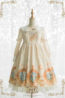 CEL Immortal Flowers Forget Me Not Sweet Lolita One Piece OP Dress