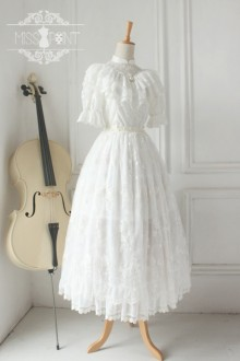 Vintage Quiet Girl Palace Lace Classic Lolita Dress