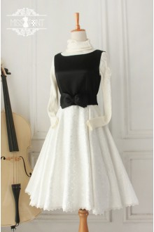 Vintage Hepburn Impression Elegant Sleeveless Classic Lolita Jumper Dress