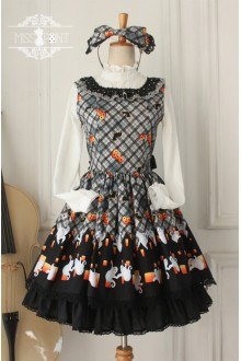 Vintage Halloween Sleeveless Classic Lolita Dress