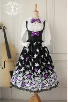 Vintage Halloween Style Gothic Lolita Jumper Dress