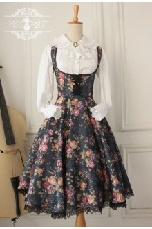 Vintage Thorns of Flowers Gothic Lolita Jumper Dress 2 Colors