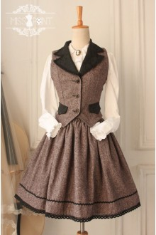 Coffee Vintage Earl Grey Tea College Style Wool Classic Lolita SK and Vest