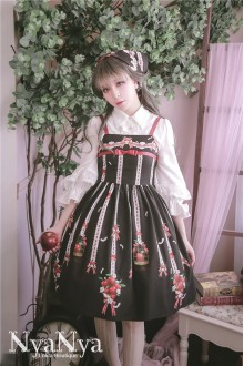 NyaNya Original Printing Sweet Lolita Suspender JSK Dress 3 Colors