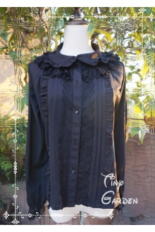 Black Multilayer Long Sleeve  Lace Lolita Blouse