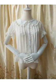 Princess Doll Collar Short Sleeved Chiffon Lolita Blouse 3 Colors