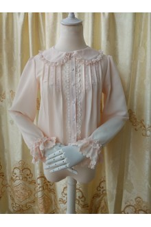Princess New Doll Collar Long Sleeved Chiffon Lolita Blouse 3 Colors
