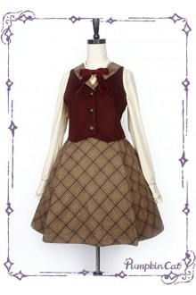 Pumpkin Cat The Detective Academy Lolita Vest and Skirt Set