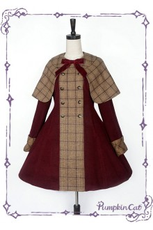 Pumpkin Cat The Detective Academy Lolita Jacket and Cape Set