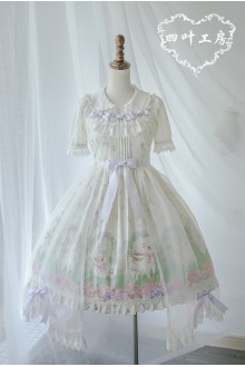 Fairydream Clover Alpaca Printing Sweet Lolita JSK Dress 3 Colors