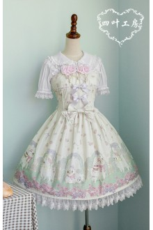 Fairydream Clover Alpaca Printing Sweet Lolita JSK Dress Version Two 3 Colors